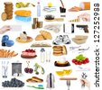 object collection on white background - stock photo