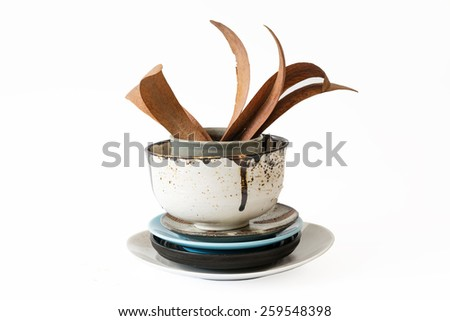 Object decorate vintage concept isolate . - stock photo