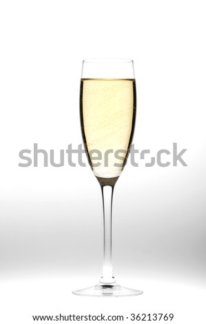 object on grey - champagne glasses close up