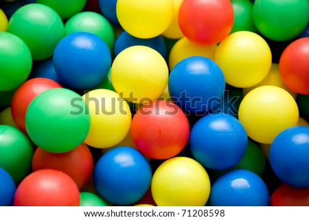 object on white - color balls close up - stock photo