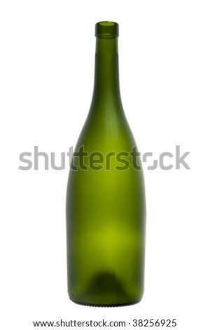 object on white - Empty wine bottle