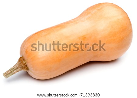 object on white - food pumpkin close up - stock photo
