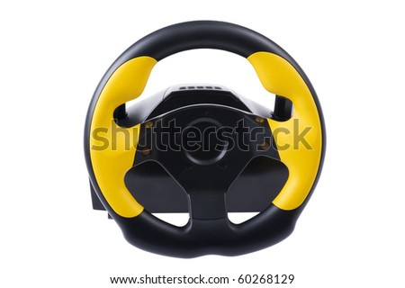object on white - wheel for computer close up - stock photo