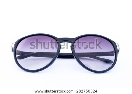 Object sunglasses isolated on the white.