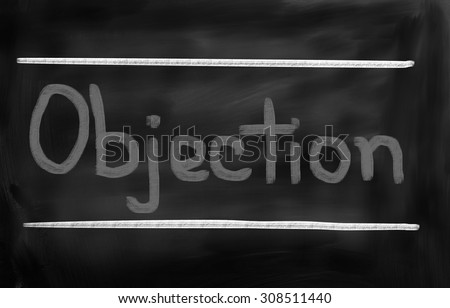 Objection Concept - stock photo