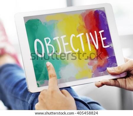 Objective Aim Direction Motivation Plan Target Concept - stock photo