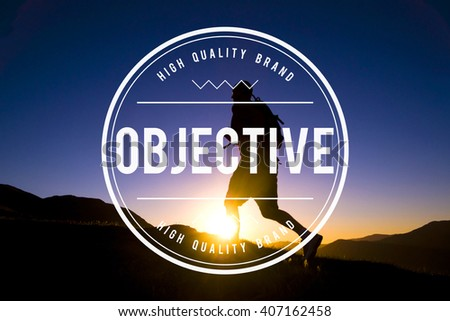 Objective Target Vision Purpose Mission Concept - stock photo