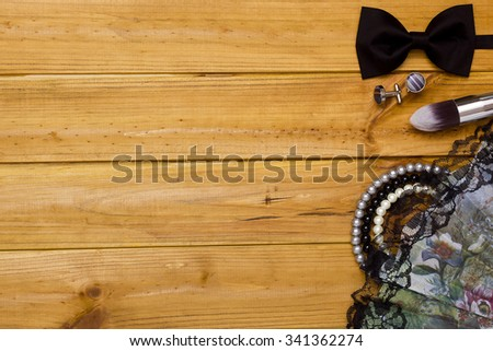 Objects defining fashion style for men and women. - stock photo