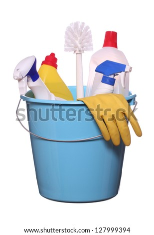 objects for spring-cleaning - stock photo