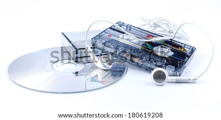 Objects play ancient music - stock photo