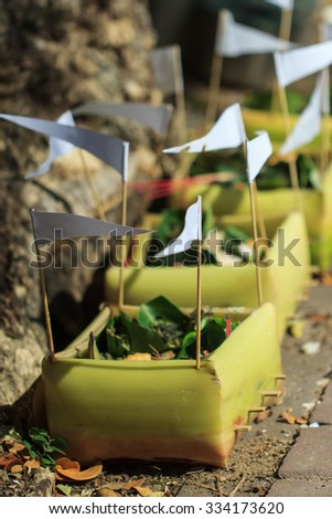 oblation,sacrificial offering - stock photo
