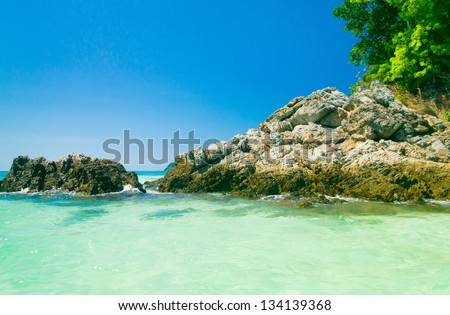 Oblivion Waters In Paradise Found - stock photo