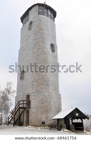 observation tower Brdo,Czech republic - stock photo