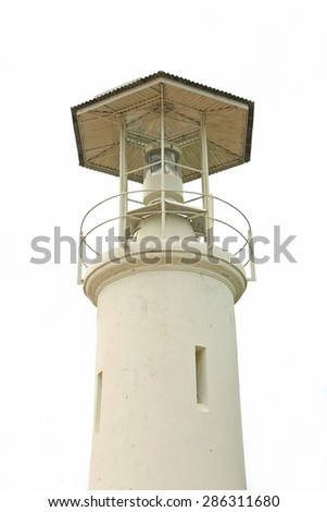 Observation tower in white background - stock photo