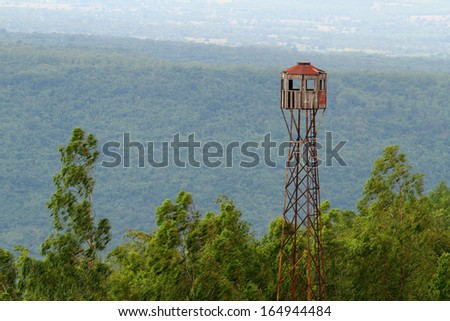 Observation tower on the dam. - stock photo