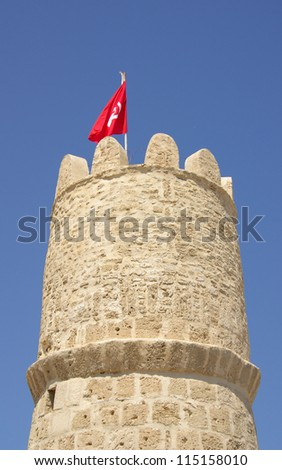 Observation tower Ribat in Monastir, Tunisia, Africa