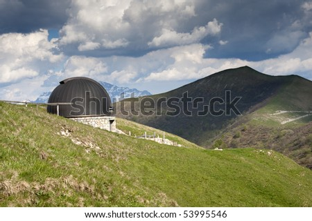 observatory at lake como - stock photo