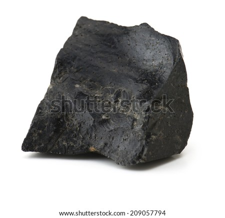 Obsidian isolated on white. - stock photo