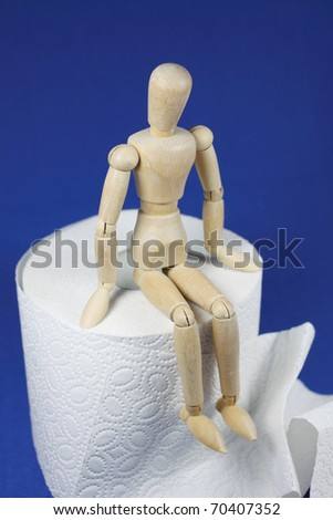 obstipation - stock photo