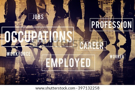 Occupations Career Employment Recruitment Position Concept - stock photo