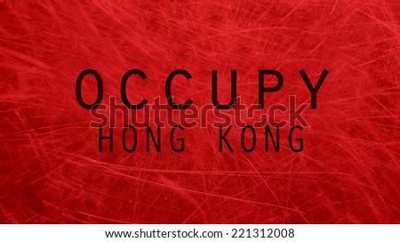 Occupy Hong Kong poster - stock photo