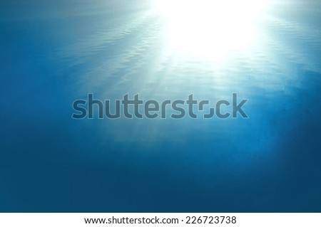Ocean and sun, Red Sea, Egypt - stock photo