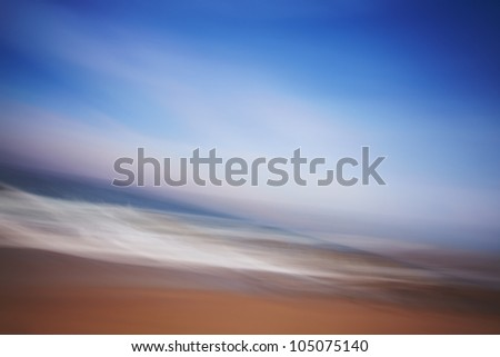 ocean artistic blur - stock photo