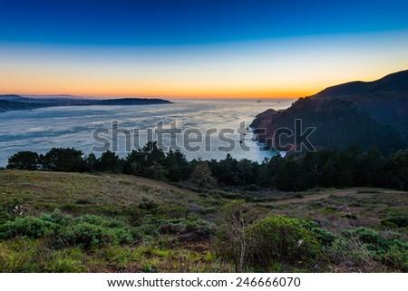 Ocean Beach Sunset - stock photo