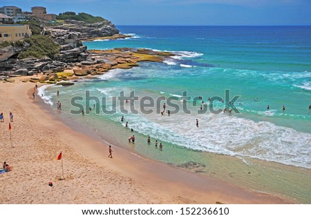 Ocean Beach, Sydney Australia - stock photo