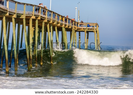 Ocean city maryland stock images royalty free images for Maryland fishing piers