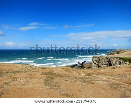 Ocean coast at Quiberon, Brittany, France