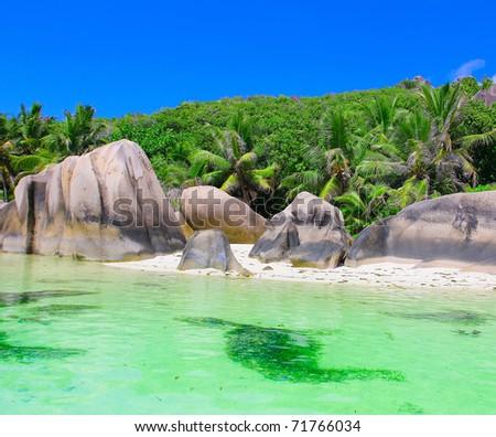 Ocean Exotic Scene - stock photo