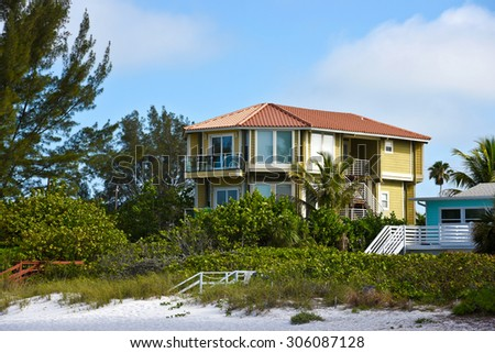 Ocean Front Beach Condominiums for Sale or Lease - stock photo