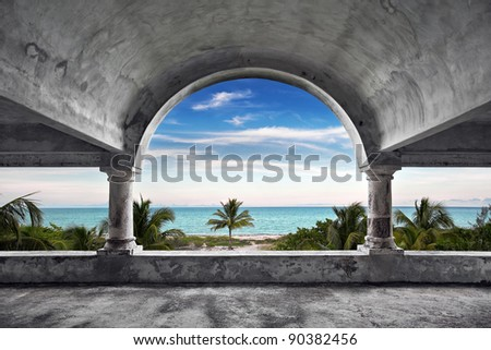 Ocean Front Mansion - stock photo
