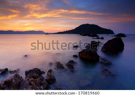 Ocean in summer with the Gulf of Thailand