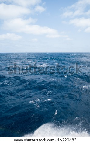 Ocean.It is photographed from a board of the ocean liner. - stock photo