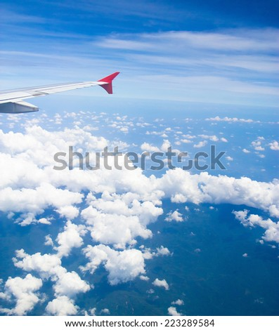Ocean of Clouds Cloudscape Around  - stock photo