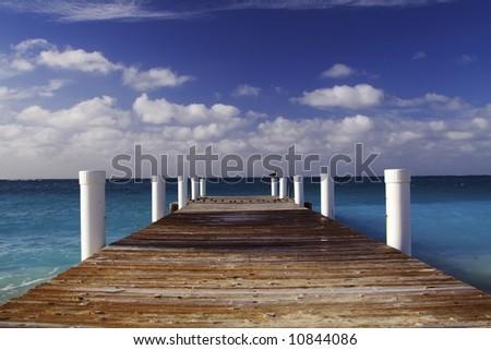 Ocean Pier - stock photo