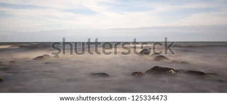 Ocean Scene photographed with long exposure, Southern of Sweden