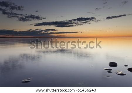 Ocean scene. Southern of Sweden. - stock photo