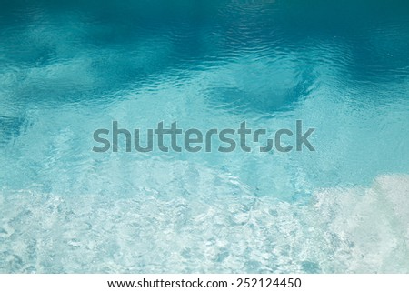 ocean, sea, travel, vacation and background concept - water in pool, sea or ocean - stock photo