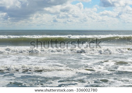 Ocean seascape on the coast of Florida, USA. - stock photo