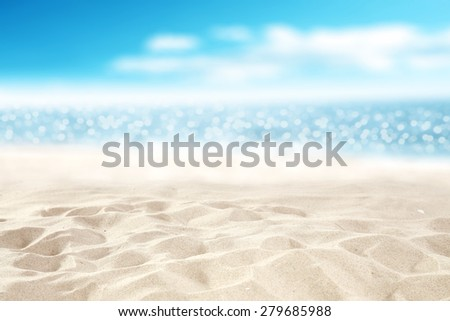 ocean space and sand  - stock photo