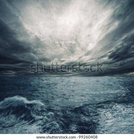 Ocean storm. - stock photo