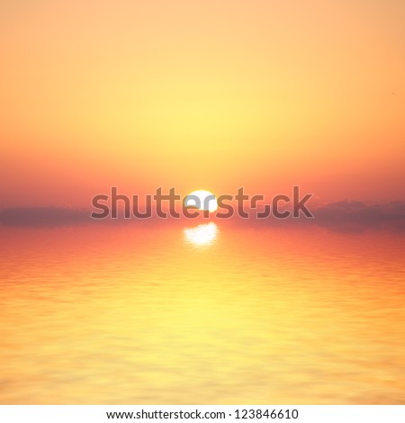 Ocean sunrise. Florida, Usa - stock photo