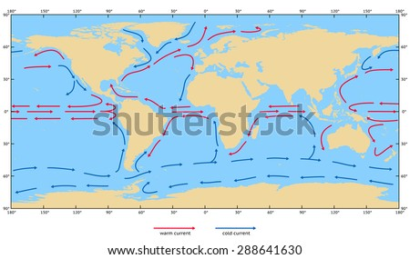 Ocean surface currents. Elements of this image furnished by NASA