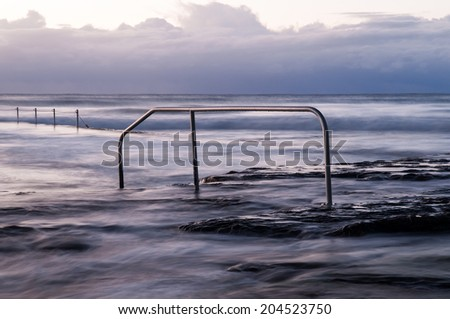 Ocean Swimming pool - stock photo