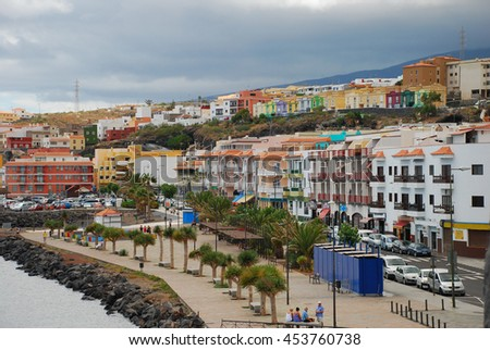 Ocean town landscape, Canary islands, Spain - stock photo
