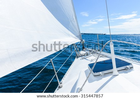 ocean view from sailing yacht