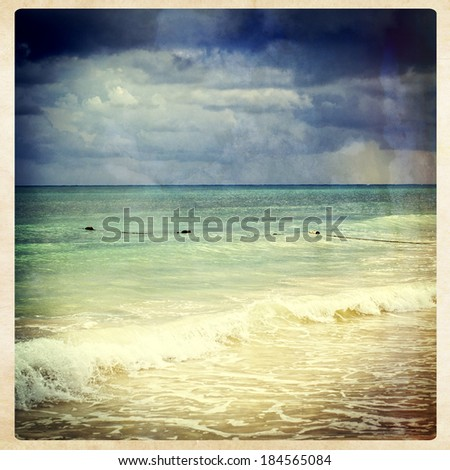 Ocean view, instagram style - stock photo